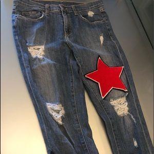 NWOT LF Carmar Denim Star Patch Jeans
